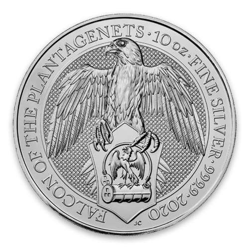 2020 10oz Britain Silver Queen's Beast : The Falcon of the Plantagenets