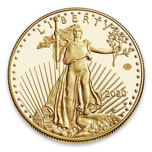 2020 1ozAmerican Gold Eagle End of WWII 75th Anniversary Proof Coin